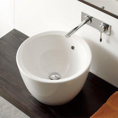 Scarabeo By Nameeks Matty Ceramic Circular Vessel Bathroom
