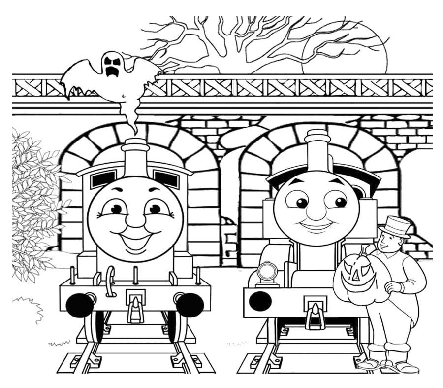 Two Person Chat With Thomas And Friends Coloring Page