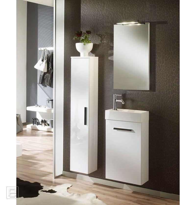 Badezimmer Set AMY157 Hochglanz weiß Jetzt bestellen unter