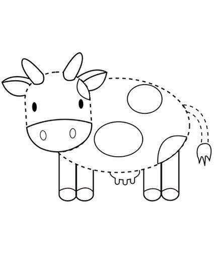 Werkblad Motoriek Cow Tracing