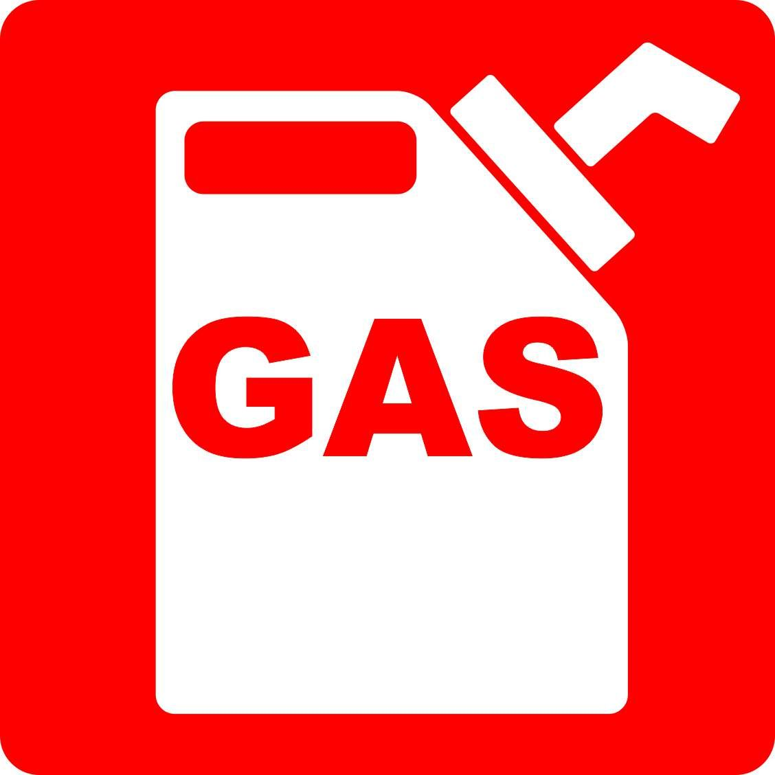 In X In Gas Sticker Vinyl Signs Stickers Car Fuel Safety Truck - Vinyl decal car signs