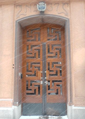 OLD CHINESE DOORS | Old door with swastikas in China. Germany was ... | Doors, windows an ...