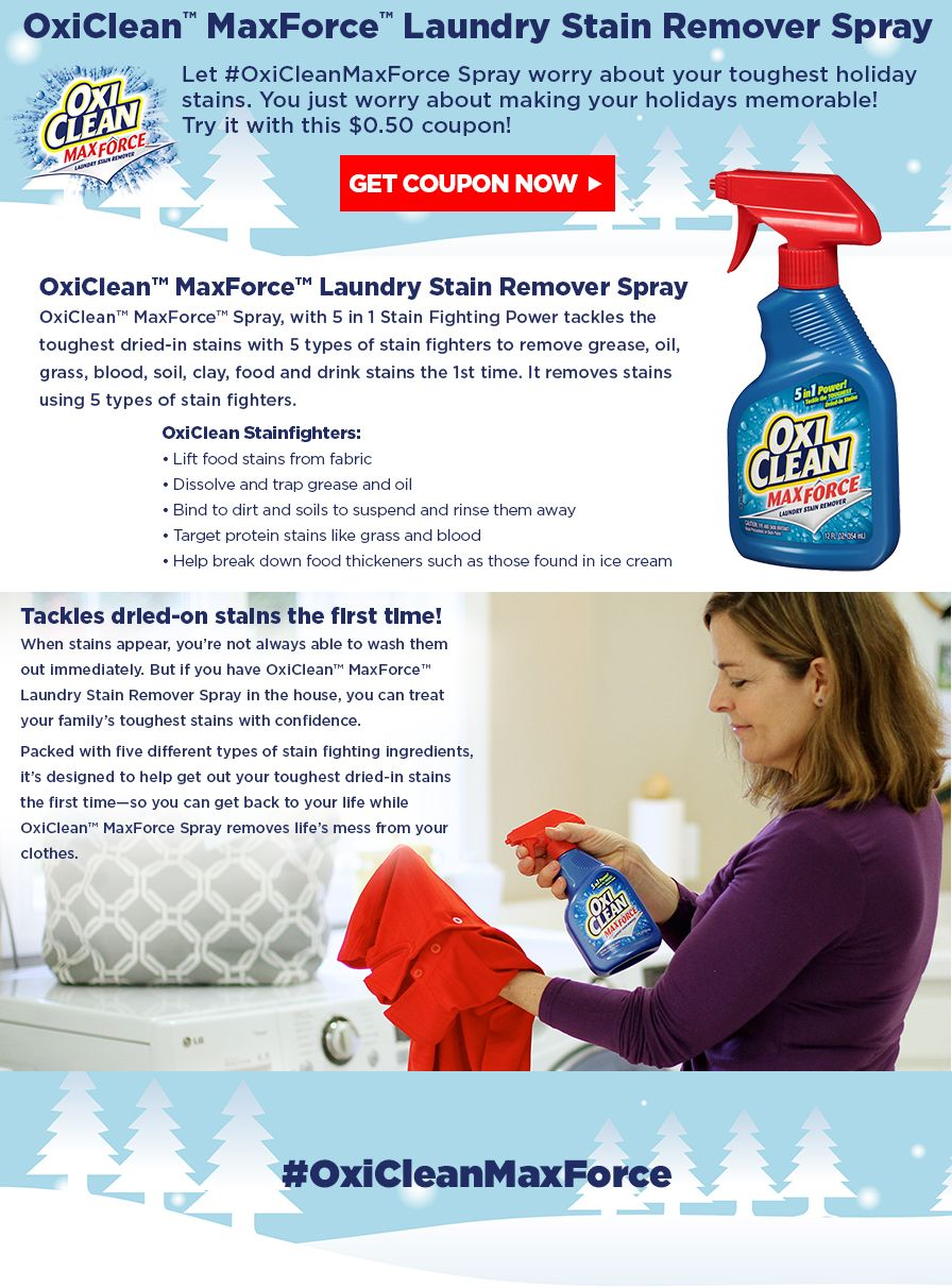 Oxiforcemaxclean Freesample Laundry Stain Remover Stain