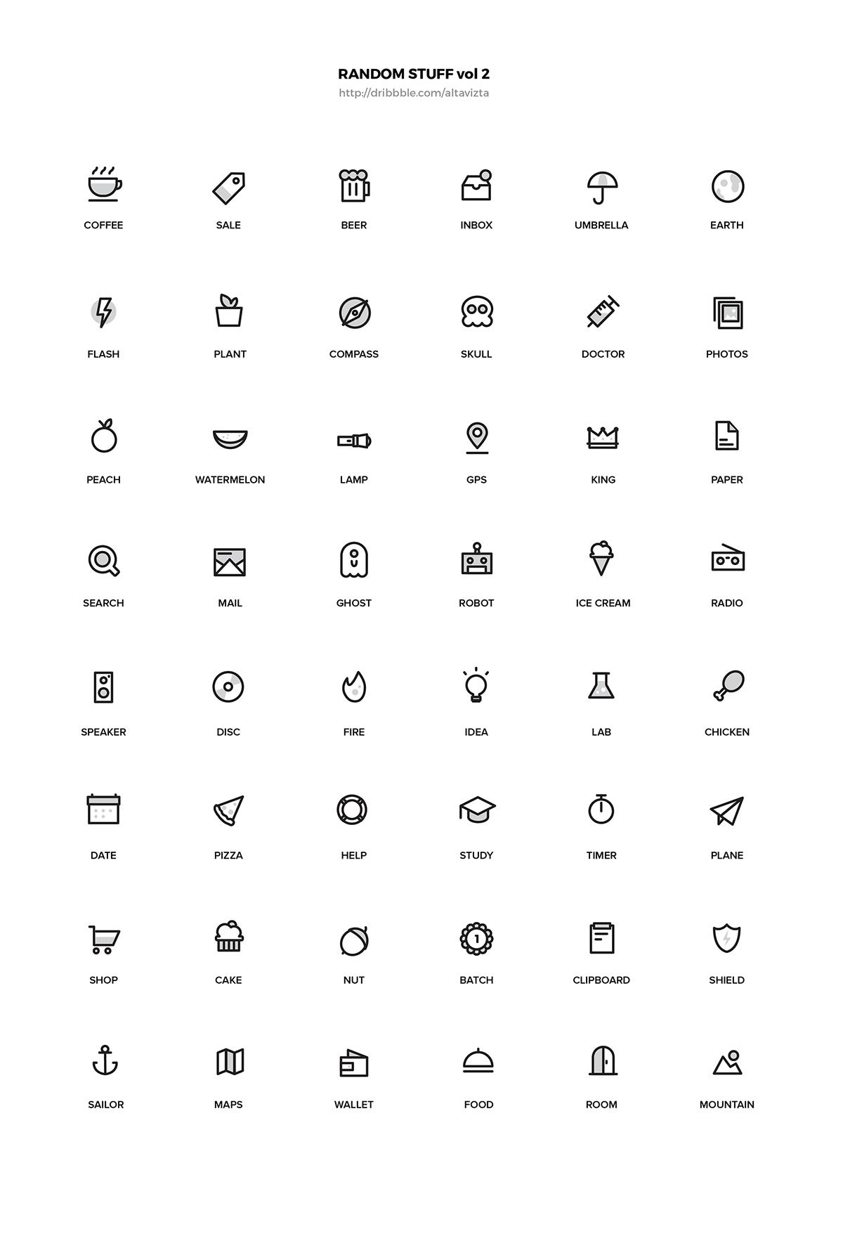 Random Stuff Free Iconset vol 2 on Behance