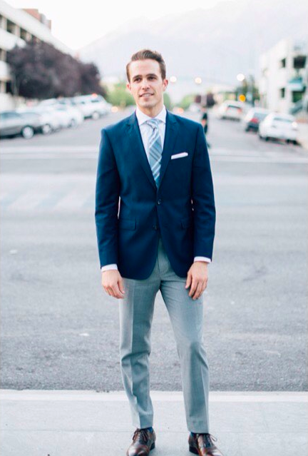 9d8c07ea84e45 Switch up your suit jackets and dress pants for a new and versatile look.  Mixing and matching suits can also decrease wear and tear.