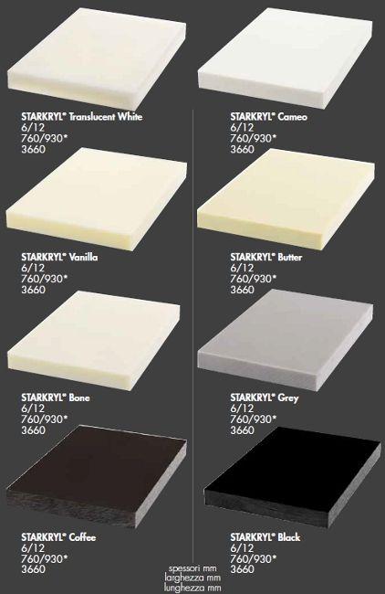 Legnopan Starkryl® top cucina/lavello in pietra acrilica.Composto ...