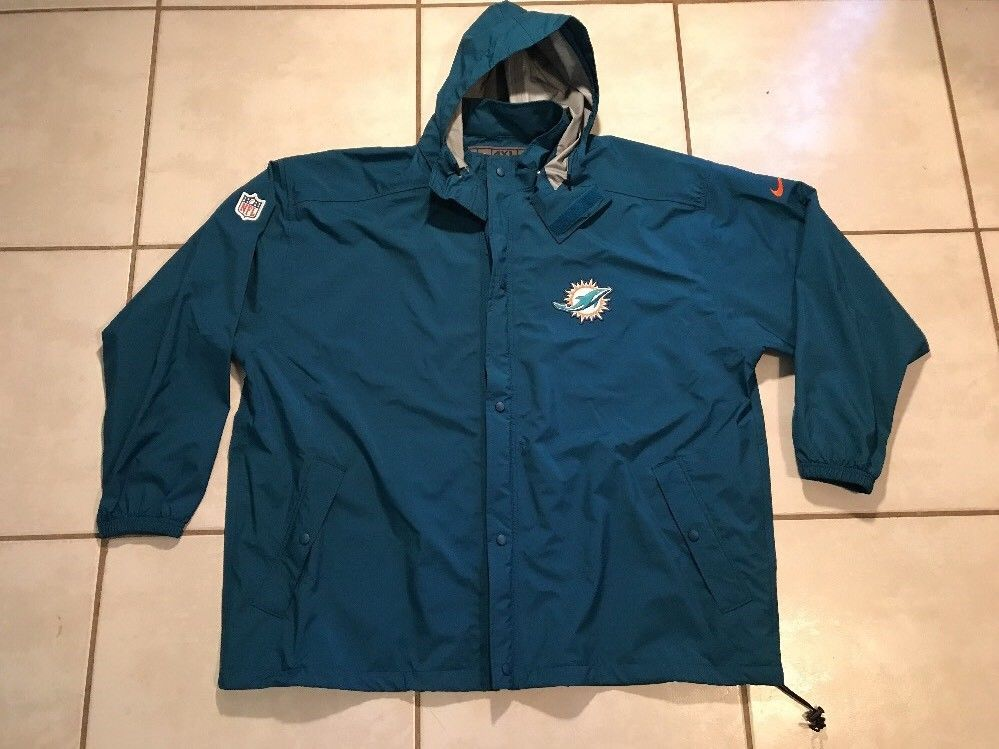 NWOT NIKE Storm-Fit Miami Dolphins NFL Jacket Coat Men s 4XL  e348f1ecb
