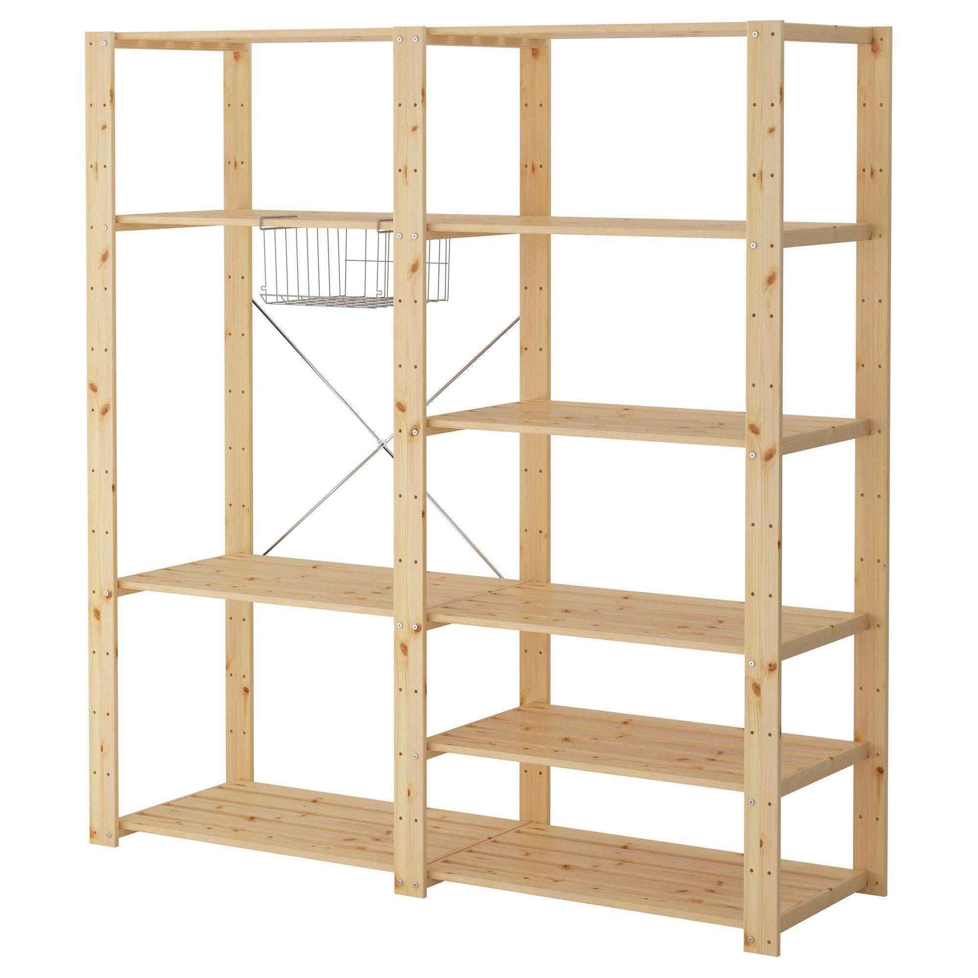 hejne 2 sections - 154x50x171 cm - ikea | pantry | pinterest | ikea