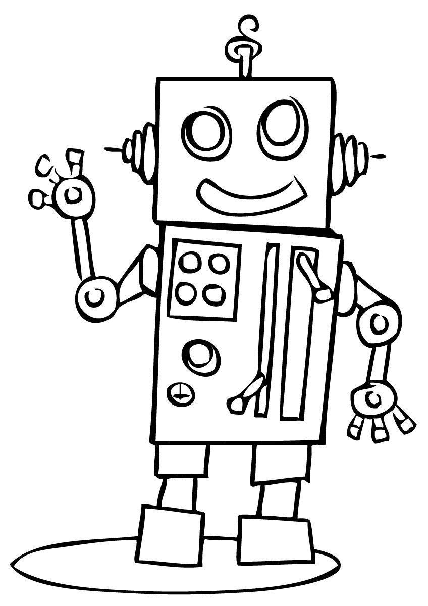 robot free robot coloring pages - Coloring Page Robot