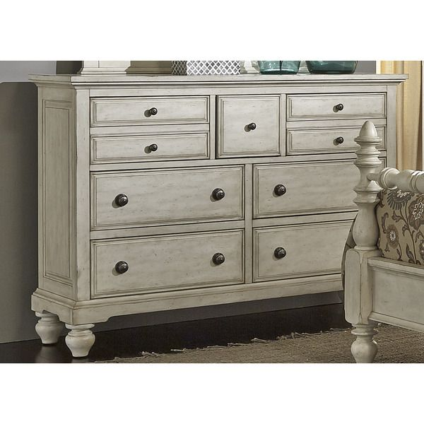 High Country Pine White Washed 7 Drawer Dresser