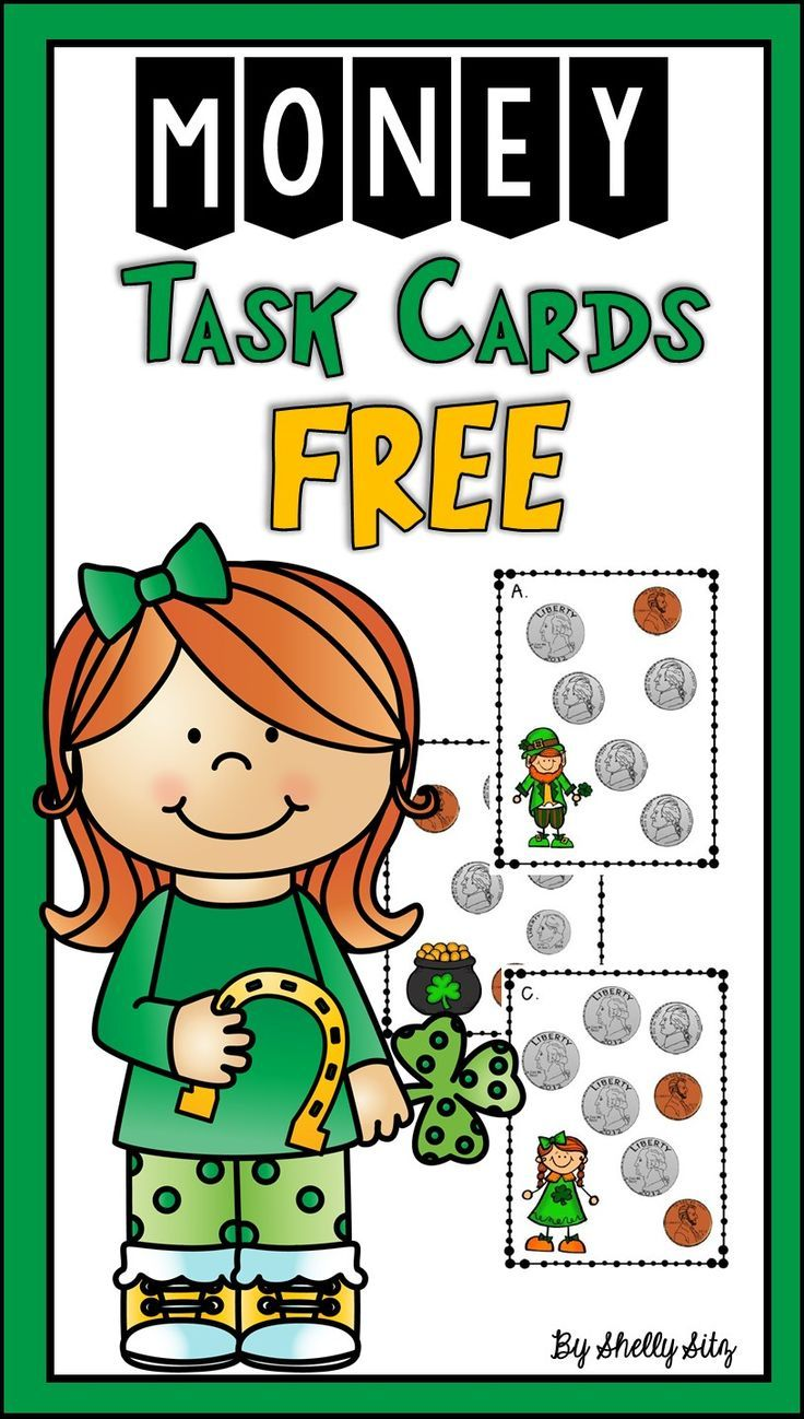 Counting Money for 2nd grade--FREEBIE--St. Patrick\'s Day math center ...
