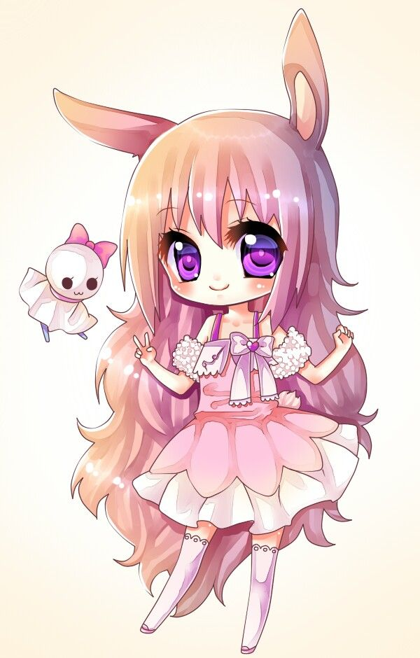 bunny girl cute kawaii things pinterest bunny chibi and girls
