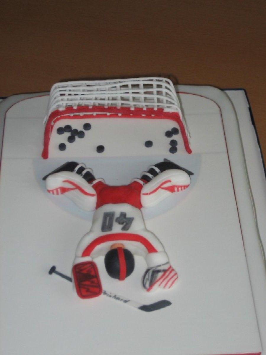 Hockey Theme Birthday Cookie Decorating