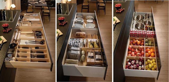 Cajones y gaveteros para organizar tu cocina dise os de for Organizar cajones cocina