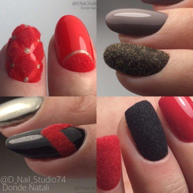 65 Velvet Nails Nail Art With Flocking Powder 2018 Art Design