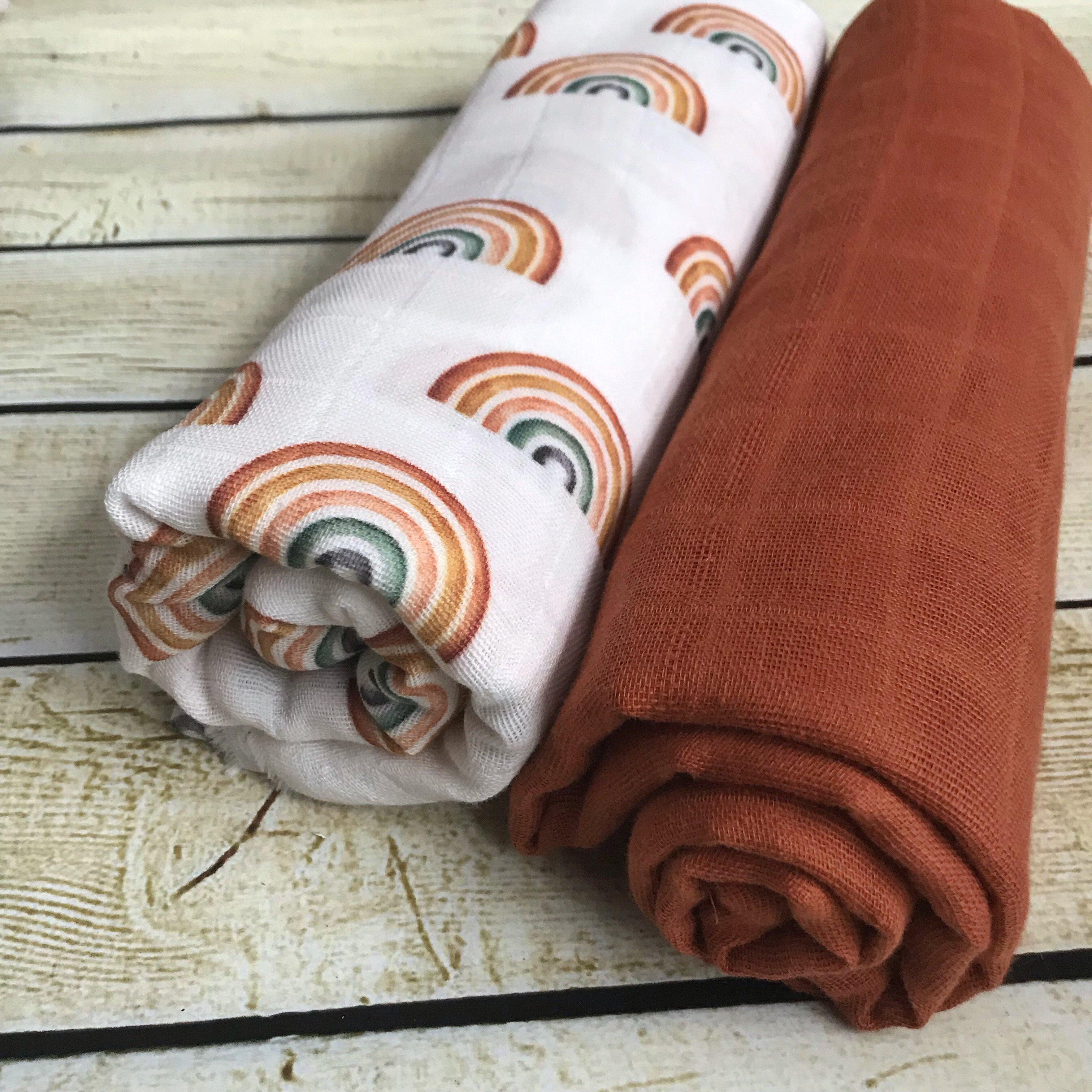 Baby Wrap Rust Baby Boy Baby Swaddle Double Gauze Muslin Blanket