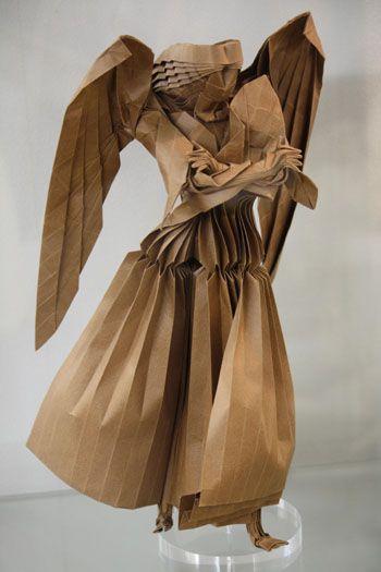 """Archangel Gabriel"" origami by Takashi Hojo"