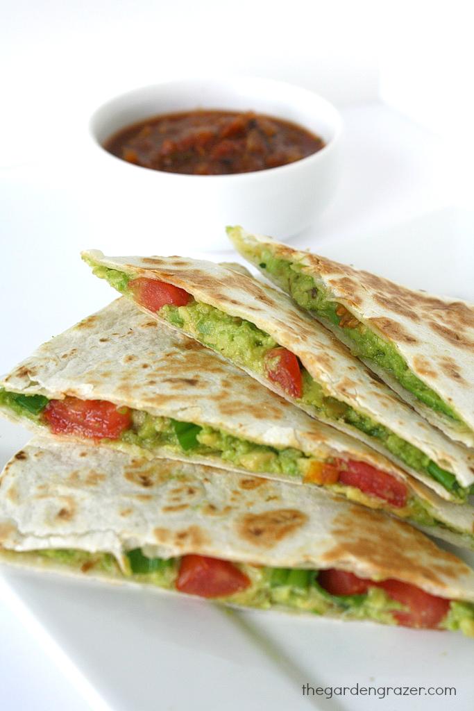 The Garden Grazer: Avocado Quesadillas (vegan). Made Just Right. Plant Based. Earth Balance.