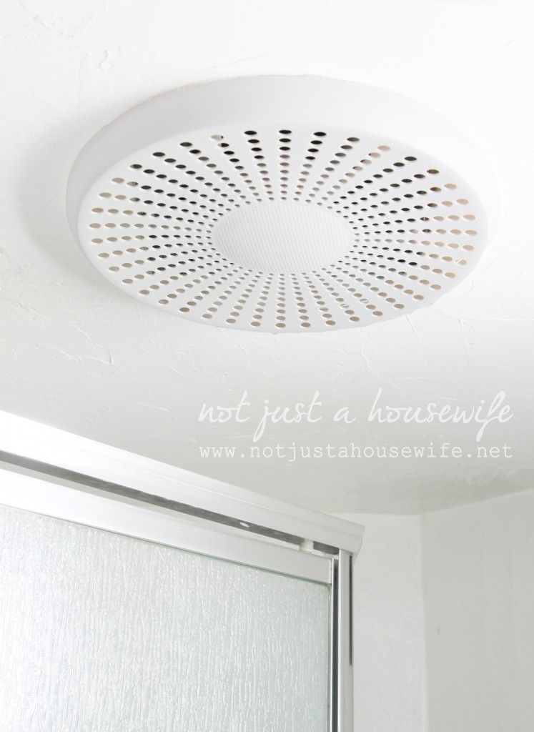 Bluetooth Bathroom Fan  Itu0027s A Speaker For Your Music!