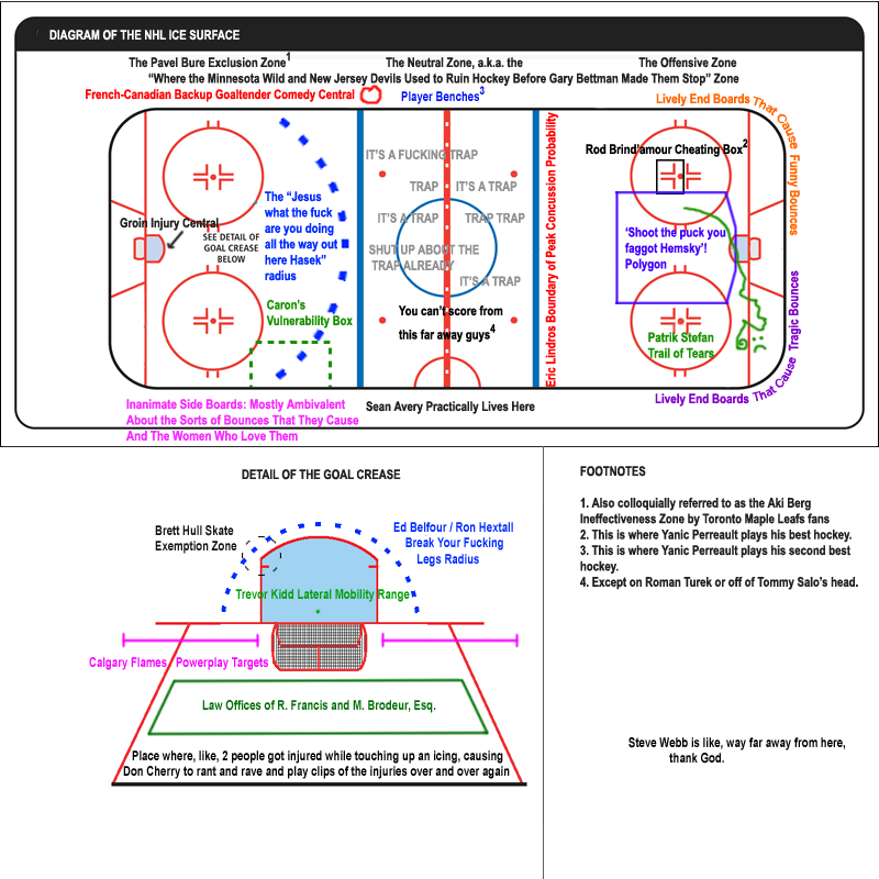 Diagram Of An Nhl Rink My Favourite The Pavel Bure Exclusion Zone