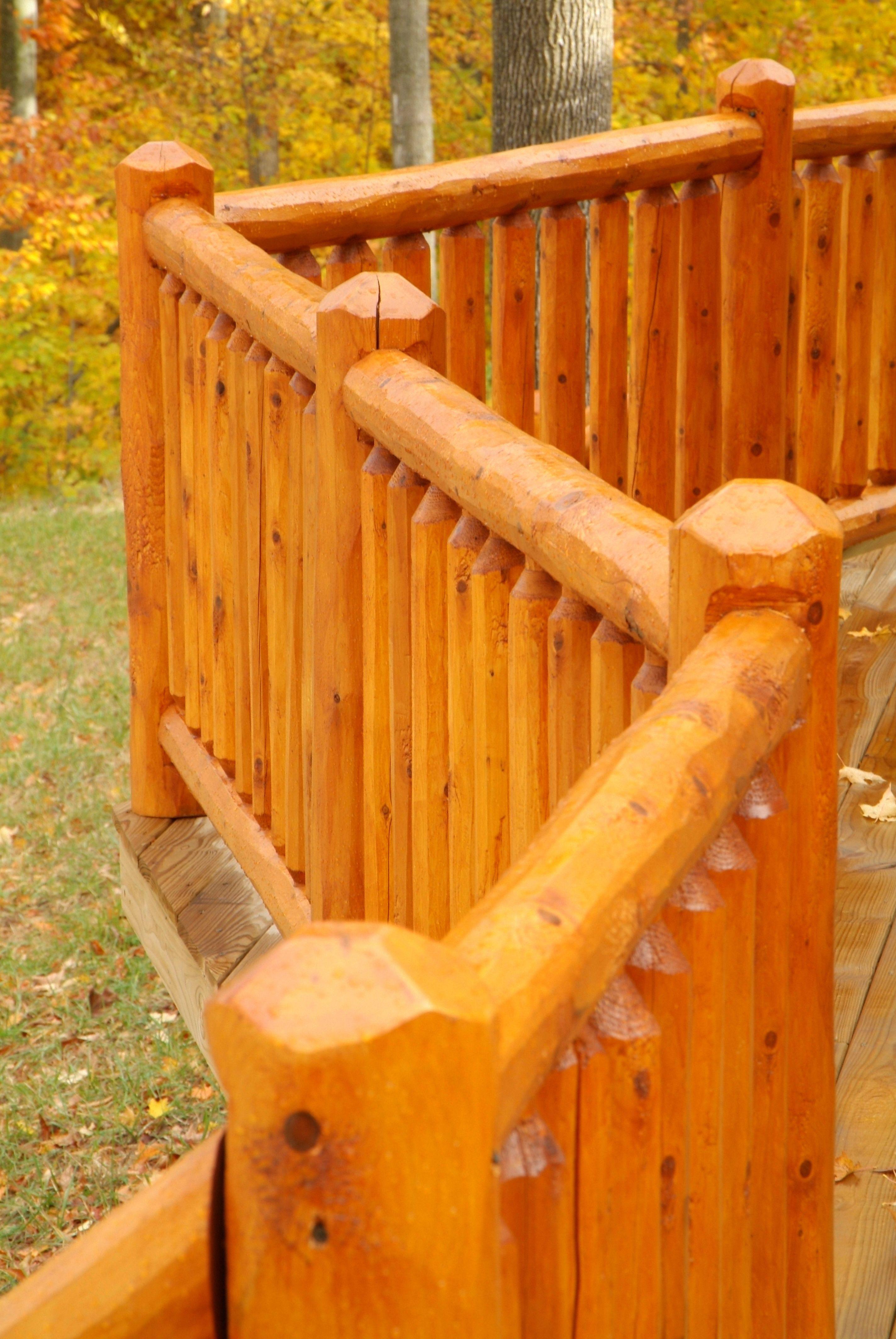 Best Cedar Deck Railing Knotty Pine Paneling Log Siding 400 x 300