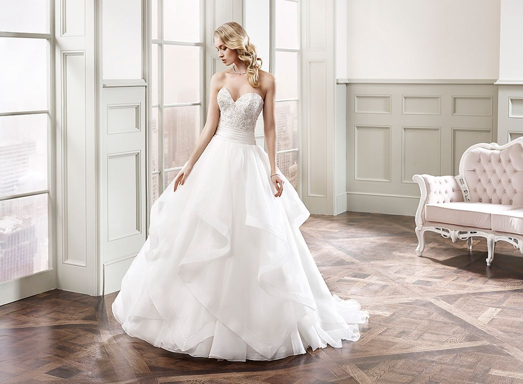 Wedding Dresses Ball Gown Sweetheart: Eddy K. Milano MD179: Strapless, Sweetheart Neckline, Ball