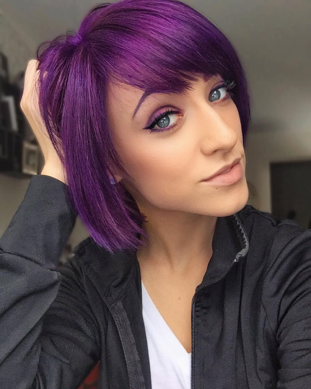 black and purple hair styles black and purple hairstyles fade haircut 1538