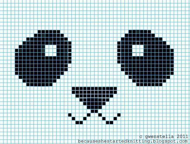 DIY Knitted Panda Hat Diy Abschnitt hat diy DIY Knitted Panda Hat