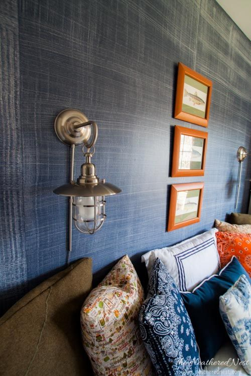 Denim paint faux finish the look of wallpaper for 1 10 - Average price to paint a bedroom ...
