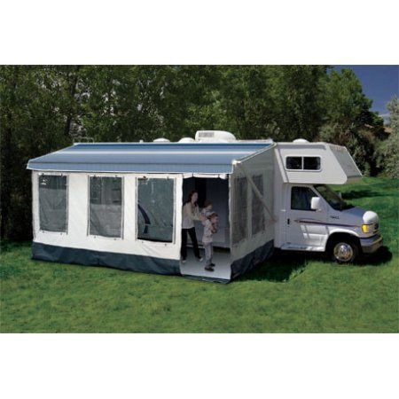 Carefree 211600a Buena Vista Rv Screen Room For Awning Size 16 Or 17 Walmart Com Rv Camping Recreational Vehicles Vintage Camper
