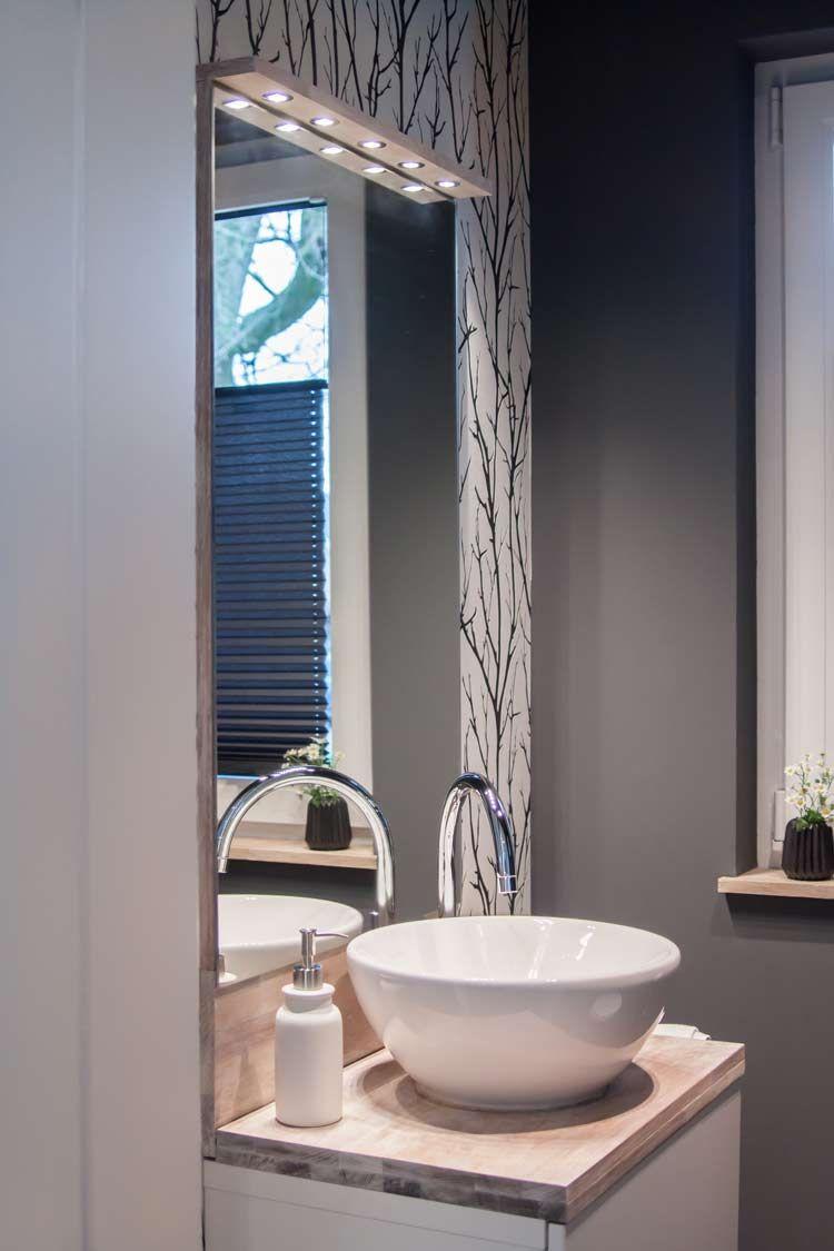 Badezimmer dekor über toilette meine erste roomtour unser gästewc in   renovierung