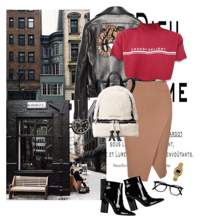 """""""Untitled #1901"""" by ivonce ❤ liked on Polyvore featuring Gucci, Sigerson Morrison, Casio and Michael Kors"""