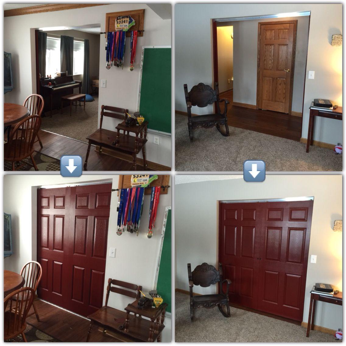 Barn door alternative wall mounted sliding doors now our living