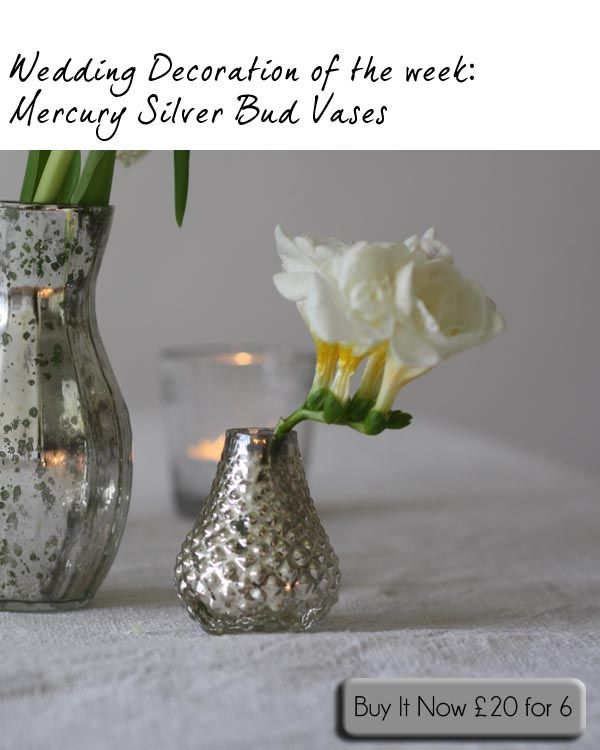 Small Silver Bud Vases Place Settings Wedding Favours