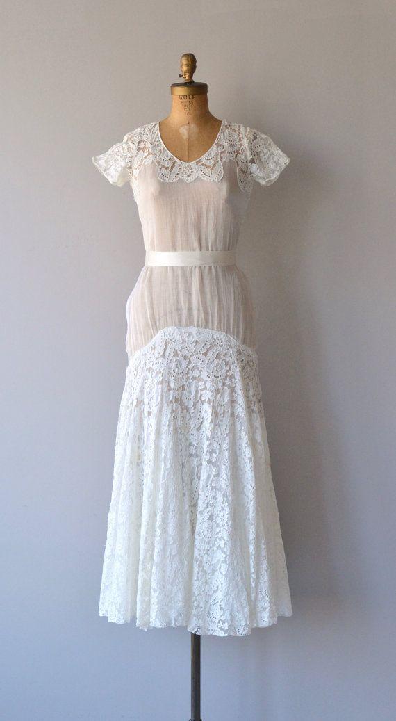 Lyall wedding gown | 1930s wedding dress | lace 30s wedding dress ...