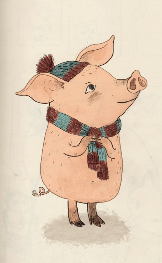 Пасхой, рисунки свиньи прикольные