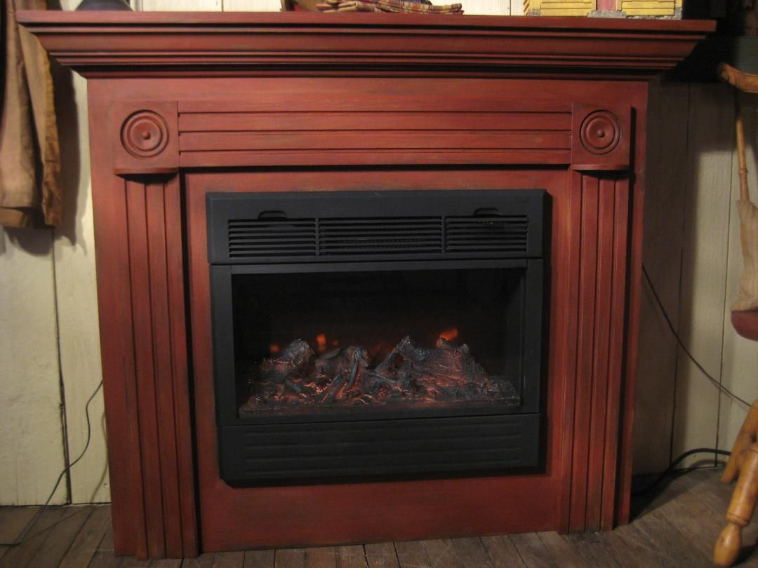 red over black building fireplace surround this week and painting