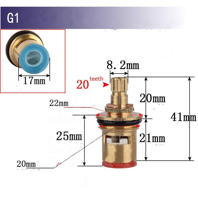 Ceramic Disc Faucet Cartridge Spout Brass Replacement Water Mixer Tap Inner Valve Core Quarter Turn 1 2 Bathroom Fixtures Mixer Taps Faucet