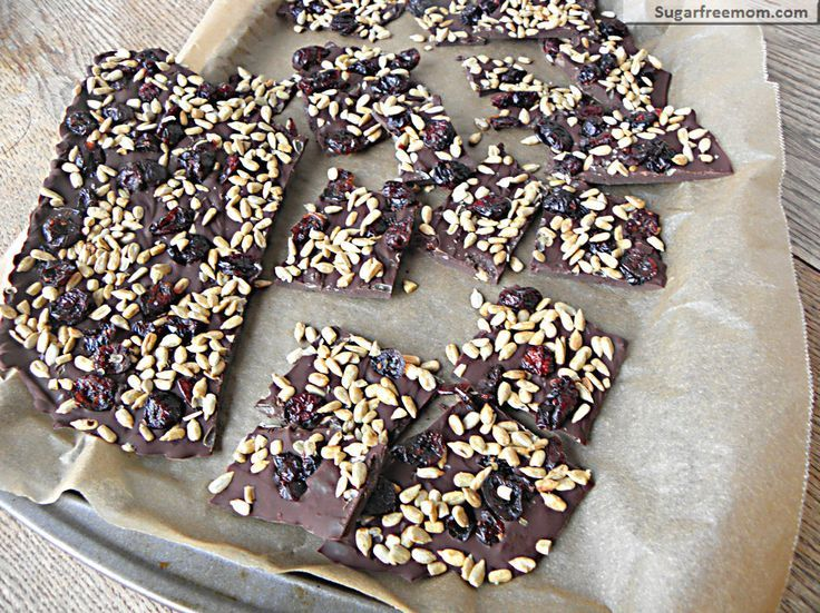 3 Ingredient chocolate bark: nut soy and dairy free