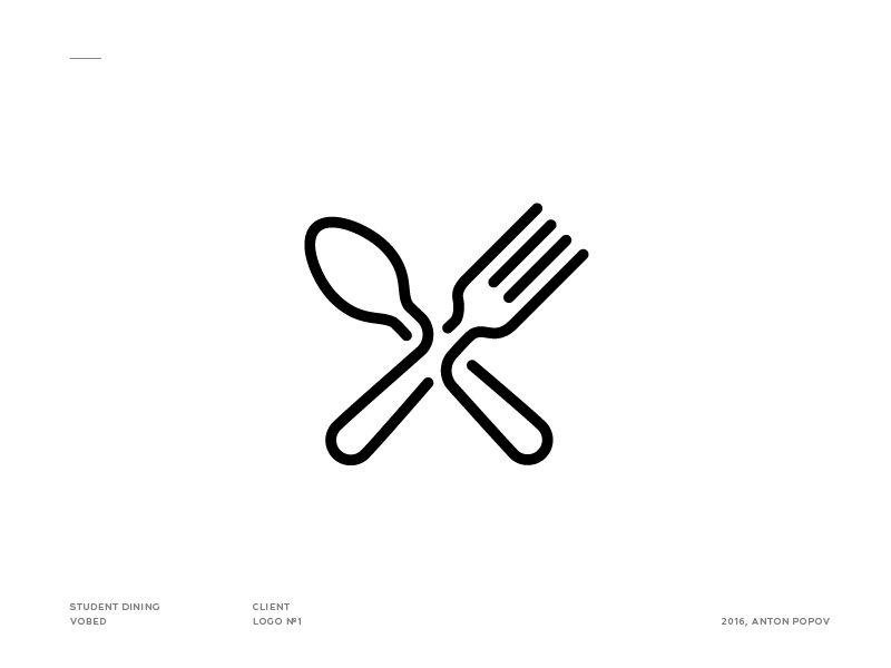 fork amp spoon icon popular dribbble shots st logo logo