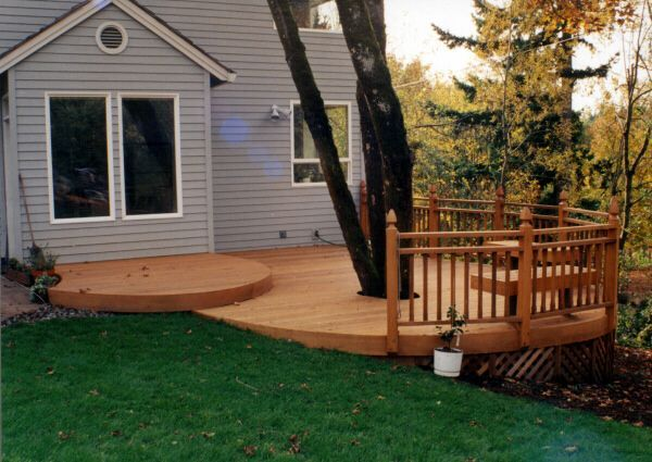 There Are A Ton Of Possibilities For Your Deck Don T Feel Limited By Your Yard In This Example A Gorgeous Port Orford Cedar Deck Building A Deck Deck Garden