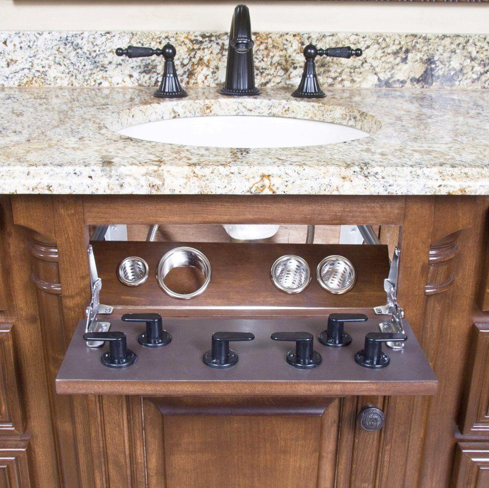 Retrofit Unusable Drawer Curling Iron Flat Iron Hair Dryer Holder Bathroom