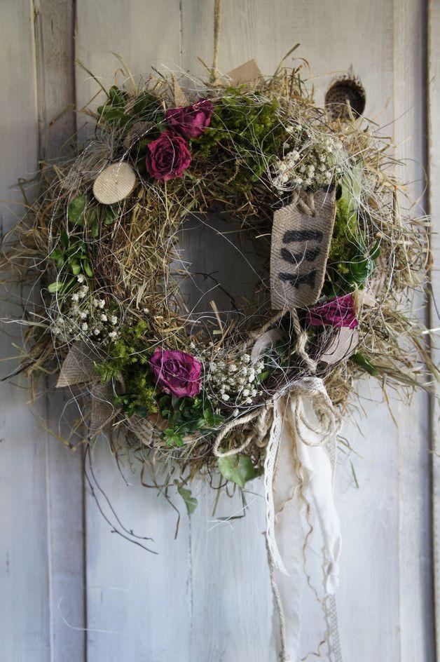 """Photo of Door wreaths – door wreath """"Landhauszauber …."""" – a designer piece by Hoimelige …"""