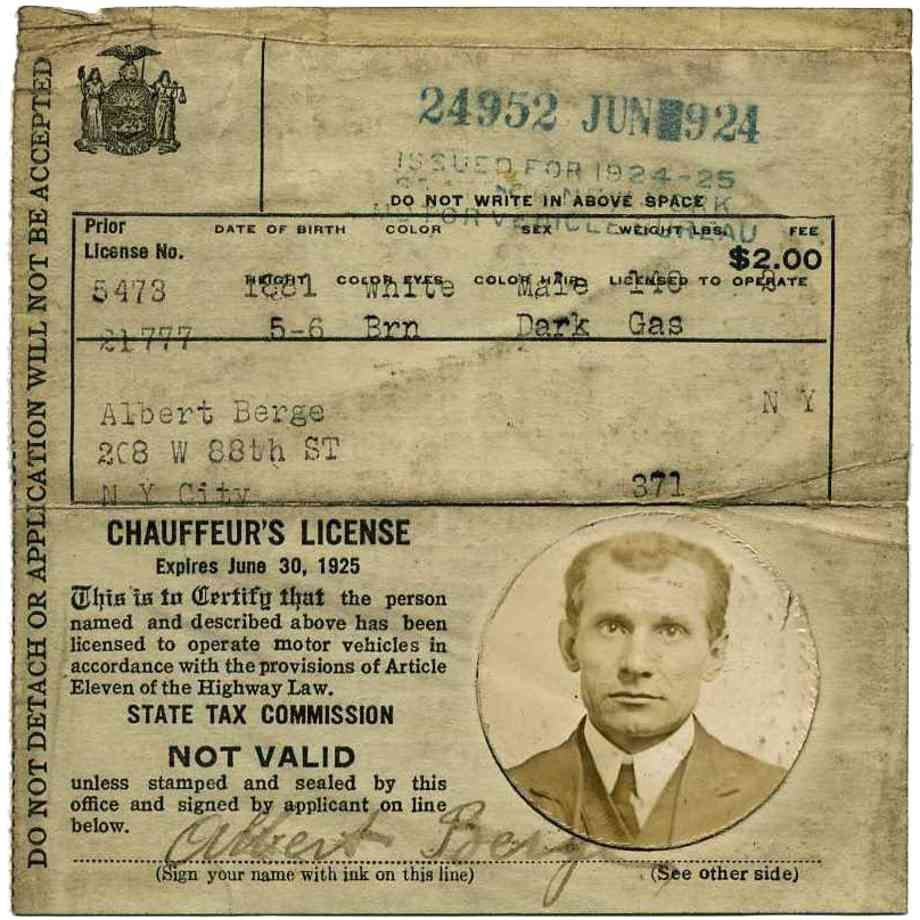 Evolution of the new york drivers license nyc history