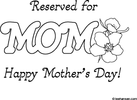 Mom Placemat Coloring Activity Printable Mothers Day Coloring Pages Mother S Day Projects Mom Printable