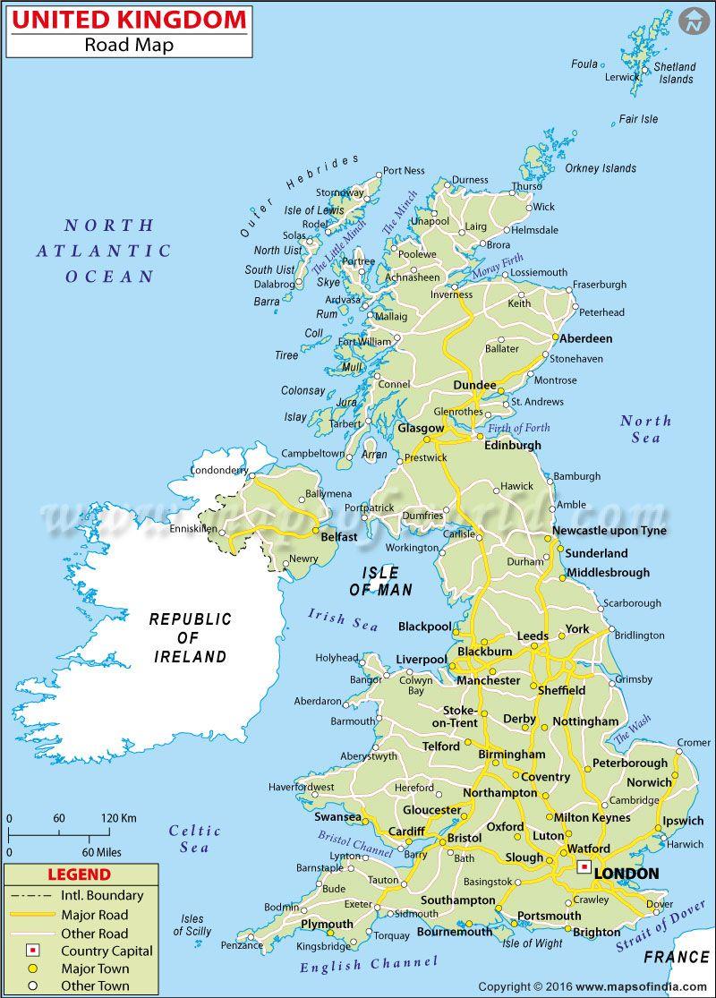 uk road map uk maps amp images pinterest city