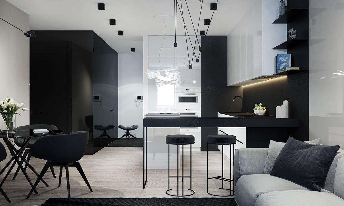 Exceptional Kitchen / 4 Monochrome, Minimalist Spaces Creating Black And White Magic