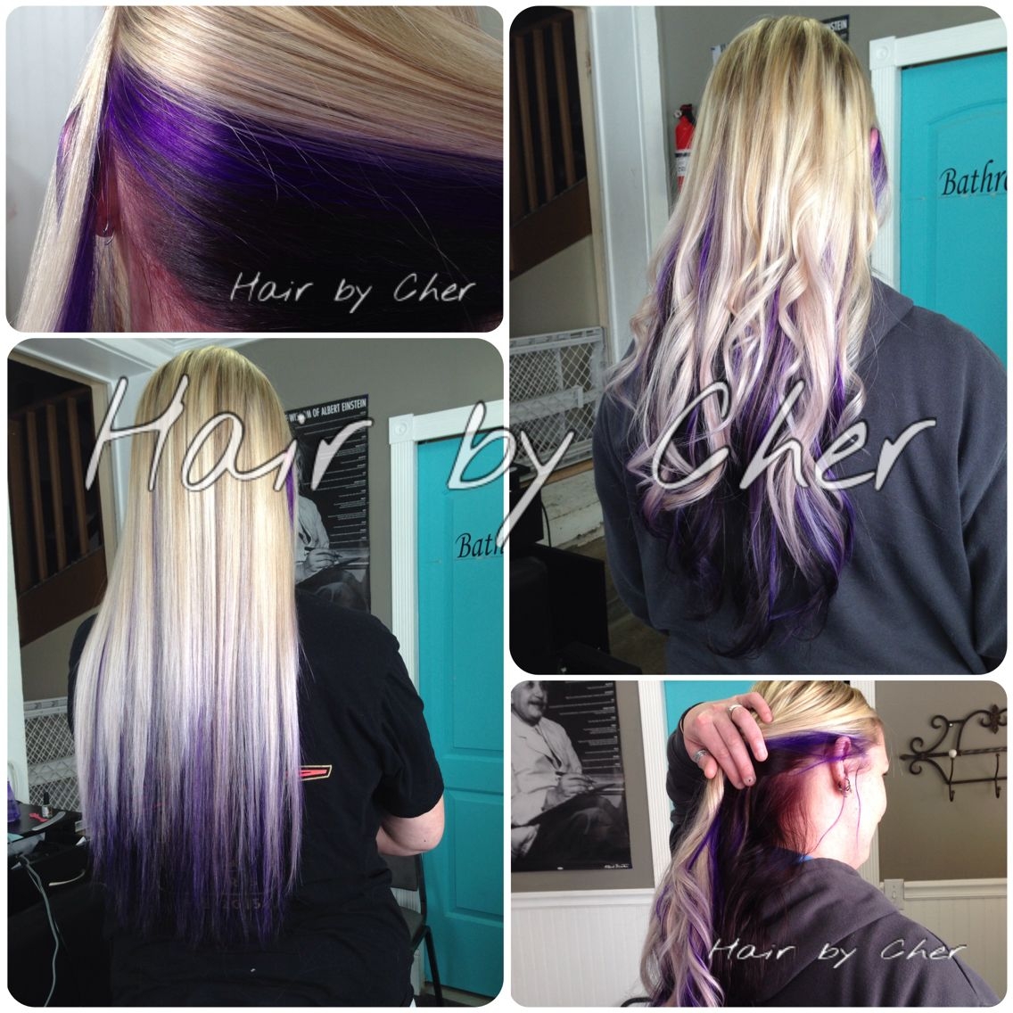 18 7pcs Clip In Human Hair Extensions T1b Pink Ombre Straight 100