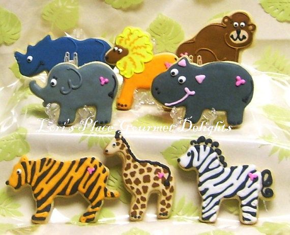 Reserved for LindsayZoo Animal Decorated Cookie Favors