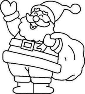 Dibujos de Santa Claus (Papá Noel) para colorear en Navidad